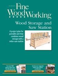 Wood Storage and Saw Station