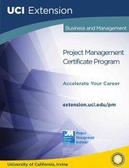 Project Management Certificate Program - UC Irvine Extension