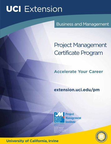 Project Management Certificate Program - UC Irvine Extension