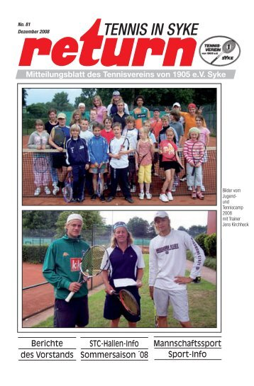 return 11. 08 28S - Tennisverein Syke