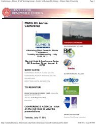 Conferences - Illinois Wind Working Group - Center ... - Trintek Energy