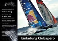 Einladung Clubapéro - Yacht Club Zug