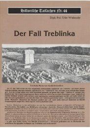 Historische Tatsachen - Nr. 44 - Udo Walendy - Der Fall Treblinka