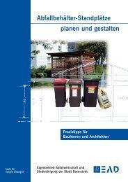 Abfallbehälter-Standplätze planen und gestalten - EAD - Darmstadt