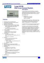 Loop-V4150 DS0 Cross Connect System - DAVANTEL