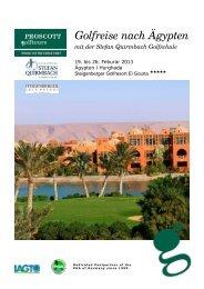 Golfreise nach Ägypten - Stefan Quirmbach Golfschule