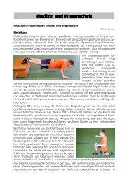 Infos zum Krafttraining mit Kindern und Jugendlichen - VfL Waiblingen