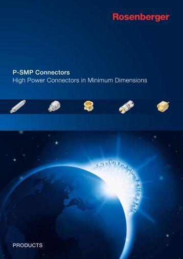 High Power Connectors in Minimum Dimensions P ... - rosenberger.de