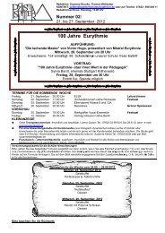 100 Jahre Eurythmie - Freie Waldorfschule Schopfheim