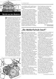 Bericht aus dem Baukreis - Freie Waldorfschule Schopfheim
