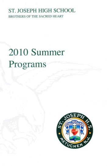 201 0 Summer - St. Joseph High School