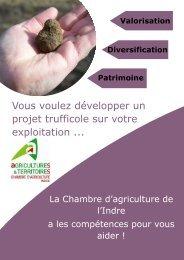 Appui au projet trufficole - Chambre d'agriculture de l'Indre