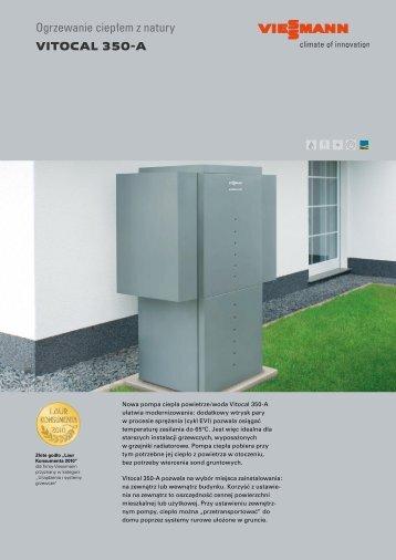 Ogrzewanie ciepłem z natury VITOCAL 350-A - Viessmann