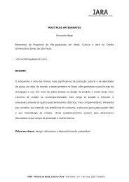 MÚLTIPLOS ARTESANATOS Fernando Hage ... - Iara - Senac