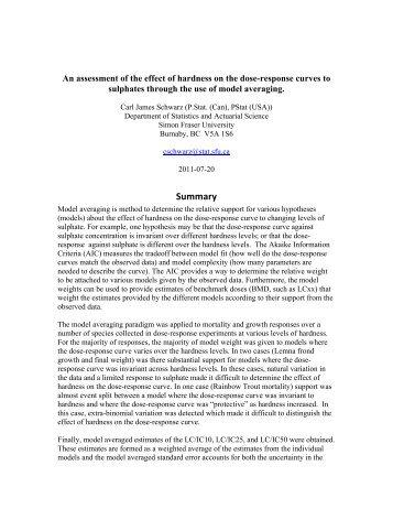 Summary - People.stat.sfu.ca - Simon Fraser University