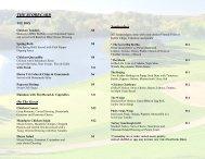 See Links Bar and Grill Lunch Menu - Grand Geneva Resort