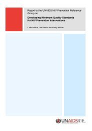 Developing Minimum Quality Standards for HIV Prevention ... - unaids