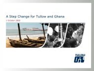 A Step Change for Tullow and Ghana - The Group