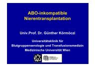 ABO-inkompatible Nierentransplantation - Rotes Kreuz
