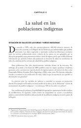 CAPÍTULO II LA SALUD EN LAS POBLACIONES INDÍGENAS ...
