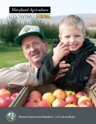 2012 MDA Annual Report - Maryland Department of Agriculture