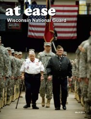 At Ease - Wisconsin National Guard Department of Military Affairs