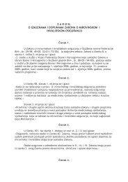 zakon| o izmjenama i dopunama zakona o mirovinskom i ...