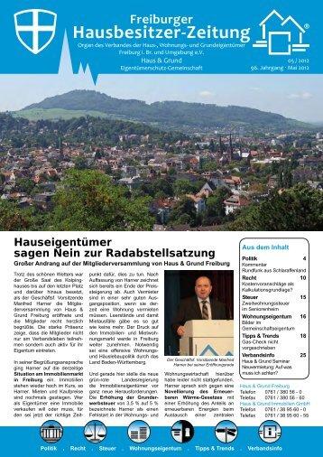 Freiburger Hausbesitzer-Zeitung 05/2012 - Bender Werbe-GmbH