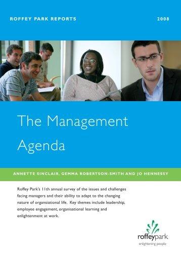 The Management Agenda - Management & Business Studies Portal ...