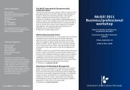 McGill 2011 Business/professional workshop - Idea