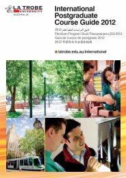 International Postgraduate Course Guide 2012 - Oceanic Consultants
