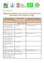 Obligations juridiques internationales et régionales de la ...