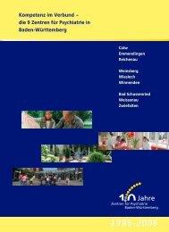 die 9 Zentren für Psychiatrie in Baden-Württemberg