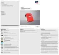 SUNNY MINI CENTRAL 7000HV - Istruzioni per l'uso - Sunova