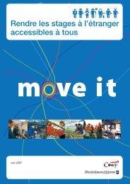 Rendre les stages à l'étranger accessibles à tous, brochure Move It