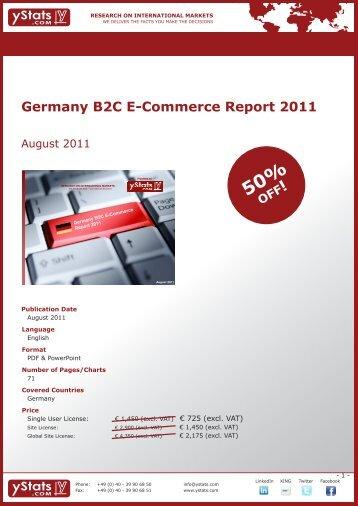 Germany B2C E-Commerce Report 2011 - yStats.com