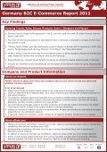Germany B2C E-Commerce Report 2011 - yStats.com - Page 2