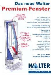 Premium-Fenster - Walter Fensterbau