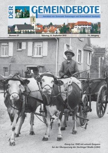 Ausgabe :Gomaringen 15.09.12.pdf - Gomaringer Verlag