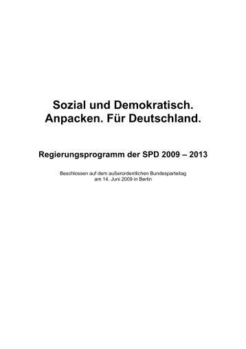 Sozial und Demokratisch - Anpacken für Deutschland