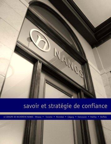 savoir et stratégie de confiance - Nanos Research