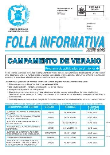 Boletín Julio 2012 - Colegio Oficial de Enfermeria de Lugo