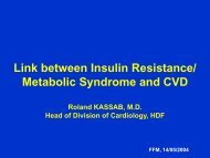 Link between Insulin Resistance/ Metabolic Syndrome and ... - mecire