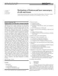 Invited p aper Mechanisms of femtosecond laser nanosurgery of ...