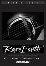 Rare Earth Custom Blend User Guide - Fishman