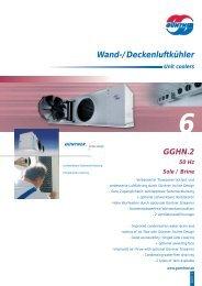 Wand-/Deckenluftkühler