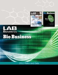2012 Rates and Data - Bio Business