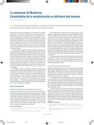 Le consensus de Monterrey - Social Watch