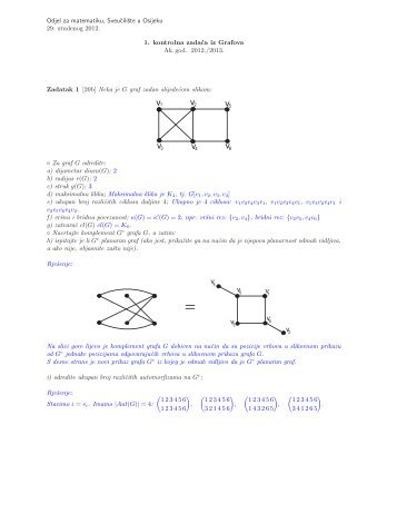 Prvi kolokvij s rješenjima 2012/2013 - Odjel za matematiku