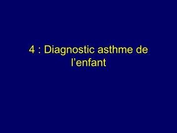 Diagnostic asthme de l'enfant
